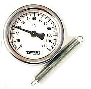 Термометр натрубный WATTS F+R810 TCM (TAB 63/120 63mm 0-120°C)