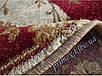 """Синтетический овальный ковер """"Цветы""""  Lotos Karat , цвет красный, фото 3"""