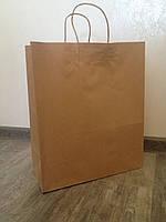 Бумажный пакет с кручеными ручками 260*140*335 бурый, фото 1