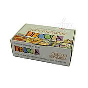Набор акриловых красок по стеклу и керамике DECOLA, 6 цв. по 20 мл