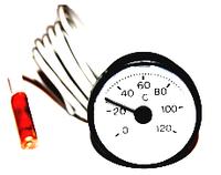 Термометр круглый SVT 37 P 0-120° белый с капиляром 1м
