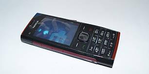 Корпус для Nokia X2 00 чёрный с красным со средней частью с клавиатурой 2A, фото 2
