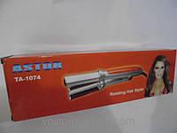 Приборы для укладки волос, плойка + утюжок + инстайлер, выпрямитель Astor TA-1074, укладка волос