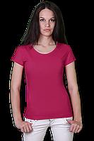 Розовая футболка женская