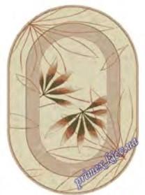"""Синтетический овальный ковер """"Листок""""  Lotos Karat , цвет бежевый"""