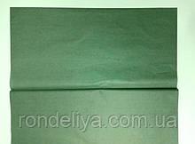 Папір тишею (сигаретний) 50х50см 50 аркушів темно зелена