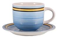 Чашка с блюдцем 350 мл Blue rainbow