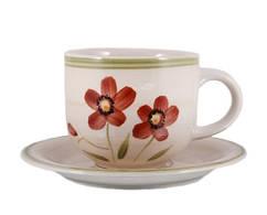Чашка с блюдцем 350 мл Flower rainbow