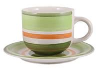 Чашка с блюдцем 350 мл Green rainbow