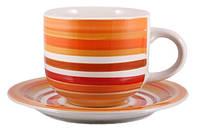 Чашка с блюдцем 350 мл Orange rainbow