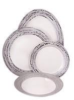 Сервиз столовый фарфор 19 пр. Sparta platinum, PDL