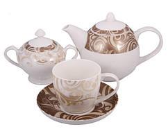 Сервиз чайный фарфор 14 пр. Glamour, PDL