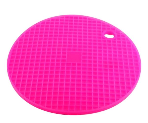 Подставка для горячего круглая силиконовая 18 см, PDL (Китай)