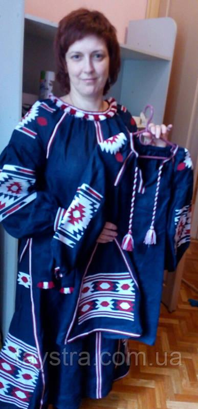 Платья для мамы и дочери - вышитая пара в бохо стиле