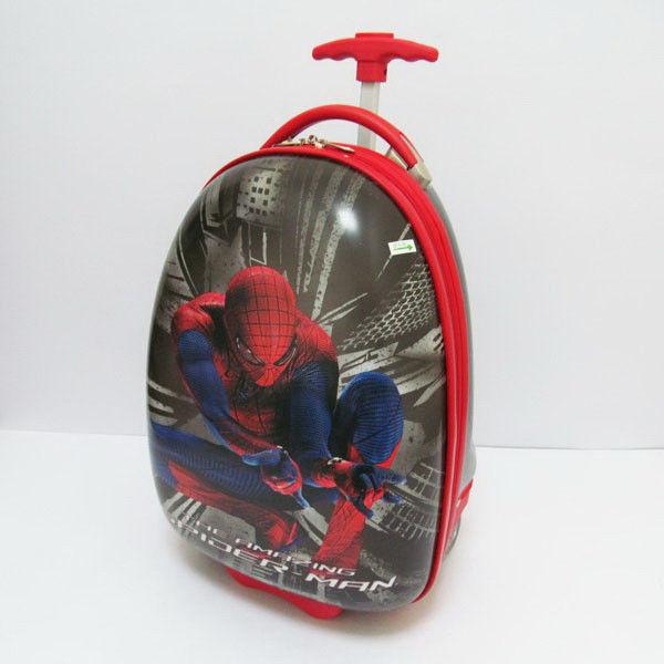 Чемодан детский дорожный пластиковый на колесах Человек паук