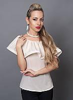 Красивая стильная модная блуза из креп-шифона