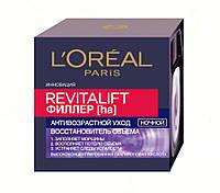 Ночной антивозрастной восстанавливающий крем Ревиталифт Филлер [ha] L'Oreal Paris