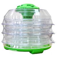 Сушка для продуктов зелено-прозр350 Вт,  6 ярусов, по 1 кг