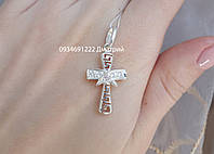 Серебряный крестик с камнями Арт. Кр0248