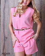 Стильный женский летний костюм с шортами