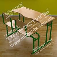 Парта монолитная со стульями МСР-20 МДФ