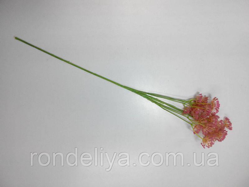 Веточка с соцветием розовая