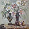 «Натюрморт с лилиями» картина маслом