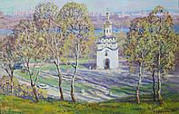 «Весна на склонах Днепра» картина маслом