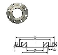Фланец плоский стальной Ду 80 мм Ру 16 атм