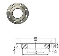 Фланец плоский стальной Ду 100 мм Ру 16 атм