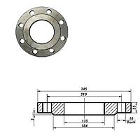 Фланец плоский стальной Ду 125 мм Ру 16 атм