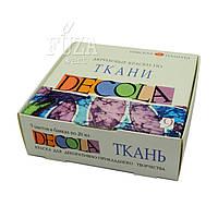 Набор акриловых красок по ткани DECOLA на водной основе, 9 цв. по 20 мл