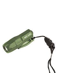 Мини-фонарь 3 светодиода (Olive) Mil-Tec Sturm (Германия)