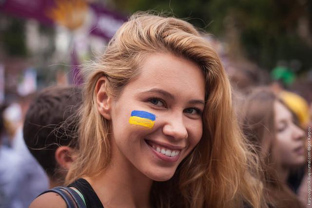 тату в виде флага Украины