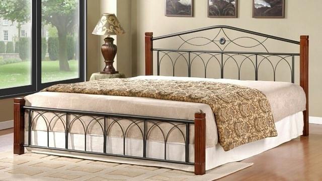 Кровать двуспальная металлическая Элизабет интерьер