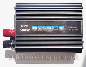Преобразователь напряжения, инвертор 12-220V UKC AC/DC 500W SSK