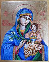Икона писаная Божьей Матери Неувядаемый цвет, фото 1