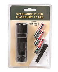 Фонарик ручной 12 LED (3ААА), black Mil-Tec Sturm (Германия)