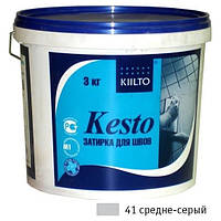 Затирка Kiilto Kesto 41 средне-серая 3кг