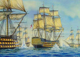 Модели парусных кораблей