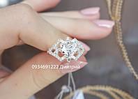 Серебряное кольцо с фианитами, фото 1