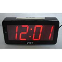 Настольные часы VST-763-1 с красной подсветкой (питание от сети) (75 032)
