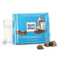 Молочный шоколад Ritter Sport Alpenmilch- Альпийское молоко