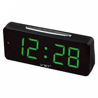 Настольные часы VST-763-4 с зеленой подсветкой (питание от сети) (75 034)