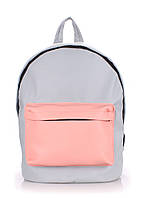 РЮКЗАК POOLPARTY(BACKPACK-PU-GREY-ROSE)