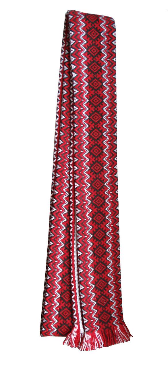 12465baed4c4ef Широкий тканий пояс до вишиванки із вишивкою купити недорого в ...
