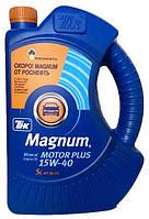 Моторное масло полусинтетика ТНК Magnum Motor Plus 15w40 5л.