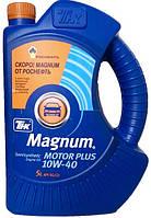 Моторное масло полусинтетика ТНК Magnum Motor Plus 10w40 5л.