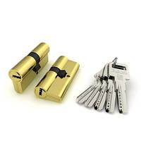 Цилиндровый механизм Fuaro R600/70 mm (30+10+30) BBP латунь 5 ключей