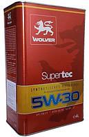 Моторное масло синтетика Wolver(Вольвер) SuperTec 5w30 4л.